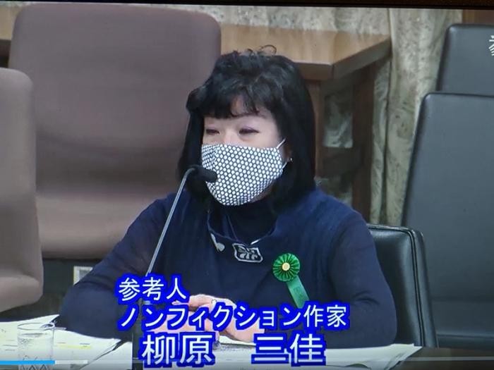 【参議院法務委員会】柳原三佳が参考人として意見陳述