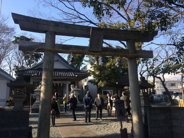 静岡県富士市の佐野鼎の生誕地近くにある水戸島八幡神社。幼い頃の佐野もこの境内で遊んでいたかもしれない