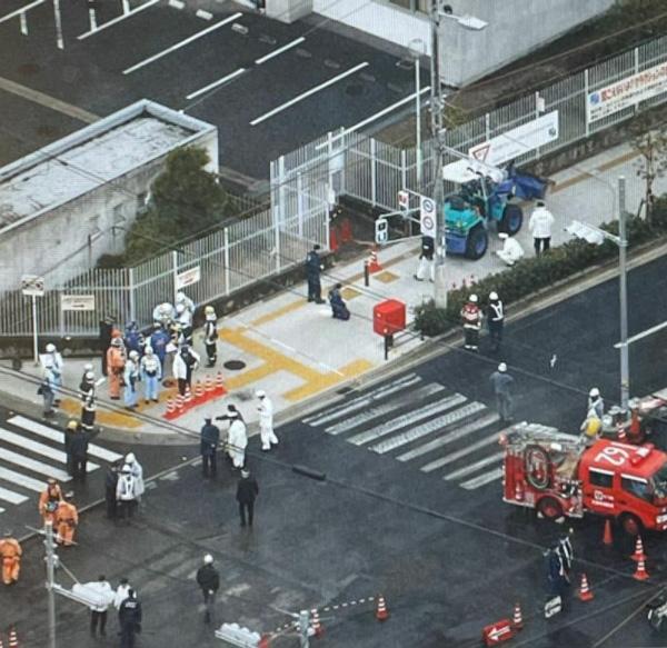2018年2月2日の産経新聞に掲載された、事故直後の現場写真(井出さん提供)