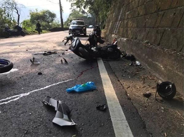 事故直後の俊徳さんのスクーター(林さん提供)