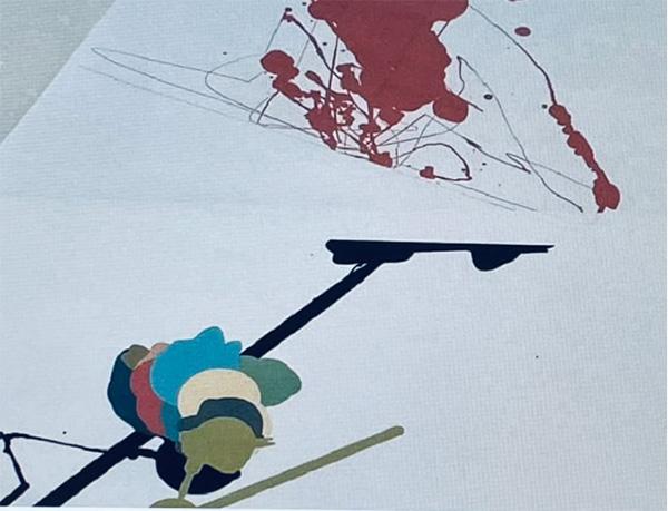 光太郎さんがパソコンで描いた作品(本間さん提供)